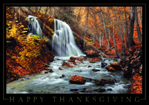 Cascading Wonders Thanksgiving Cards